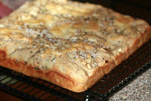 multigrain focaccia bread with herbs and garlic