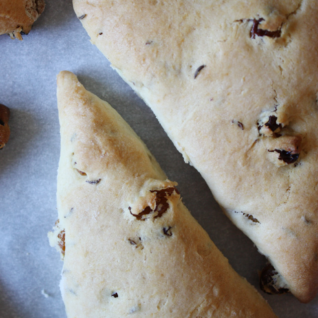 Golden Raisin Caraway Seed Scones