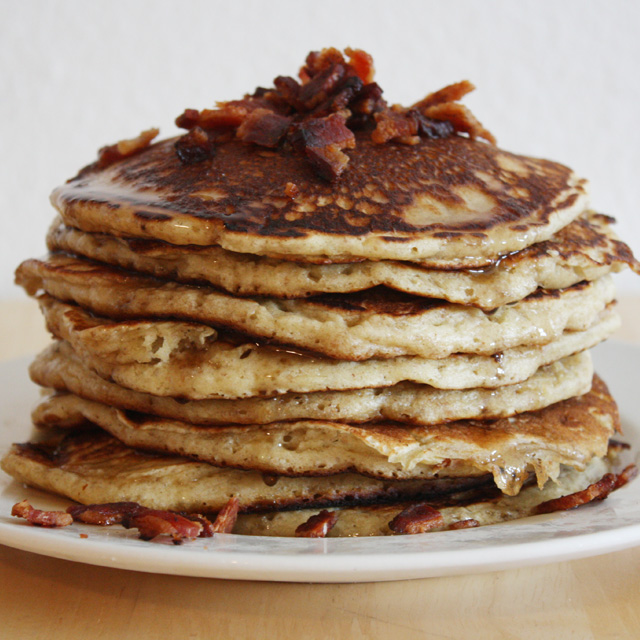Bourbon Bacon Pancakes