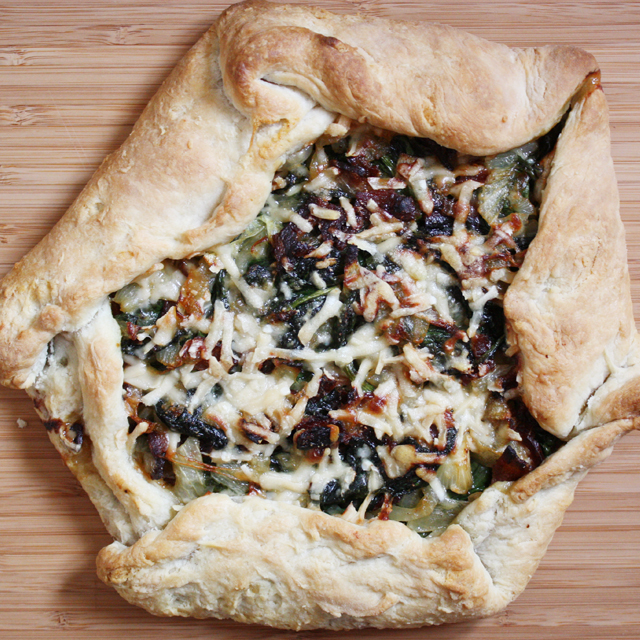 Bacon, Spinach and Onion Galette