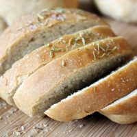 slices of rosemary peasant bread