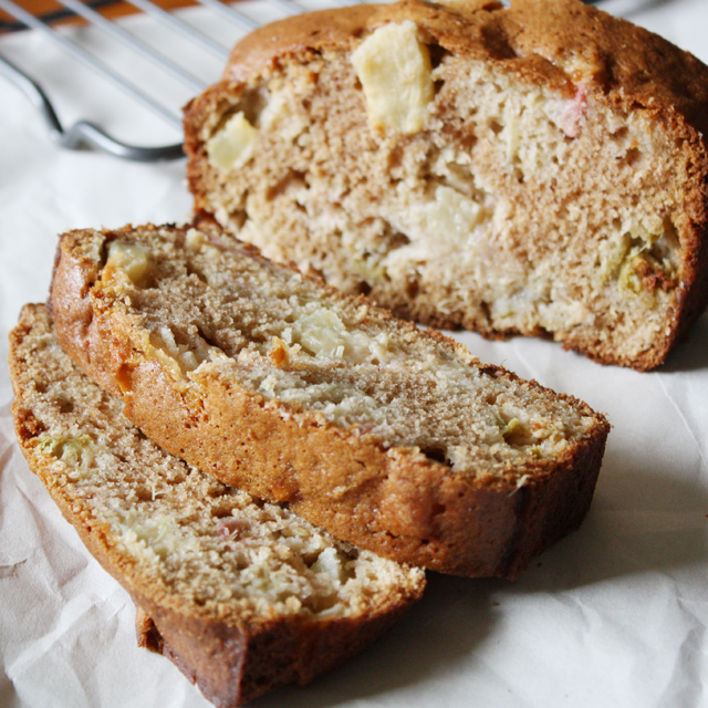 Rhubarb Apple Bread