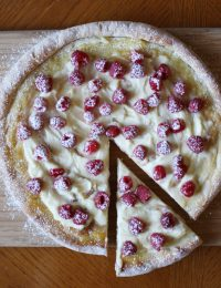 Raspberry Mascarpone Pizza