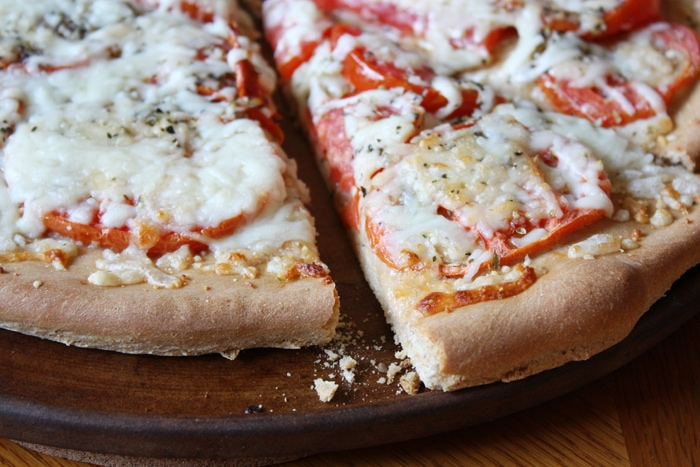 beer pizza crust slice