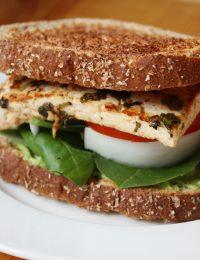 Cilantro Lime Tofu Sandwich