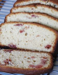 Cardamom Cherry Jam Quick Bread