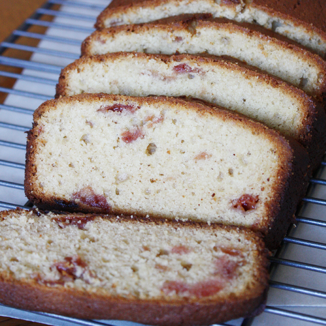 Cardamom Cherry Jam Quick Bread