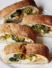 Cheesy Chicken and Broccoli Stromboli