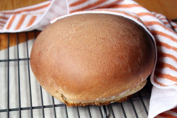 Hawaiian sweet bread on cooling rack