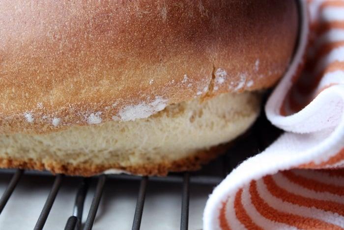 close up Hawaiian sweet bread loaf
