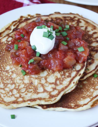 Cheddar, Chive and Cornmeal Pancakes