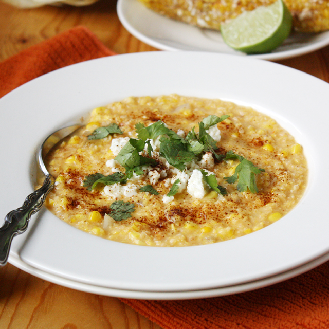 Mexican Grilled Corn Chowder