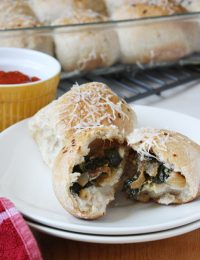 Chevre, Onion and Spinach Rolls