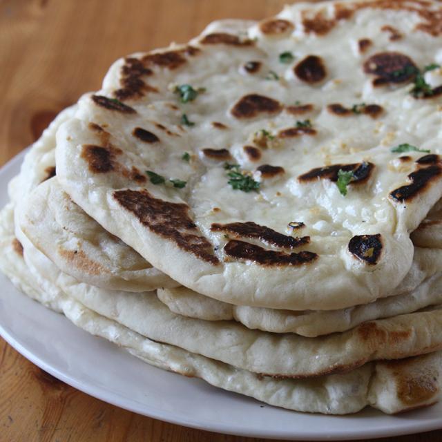 Buttery Garlic Naan