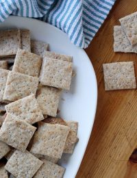 Parmesan, Sea Salt and Black Pepper Crackers