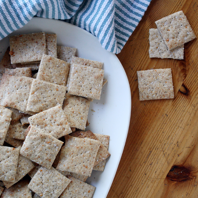 Parmesan, Sea Salt and Black Pepper Crackers