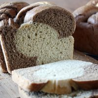 sliced braided rye bread