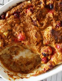 Cranberry Pumpkin Croissant Bread Pudding