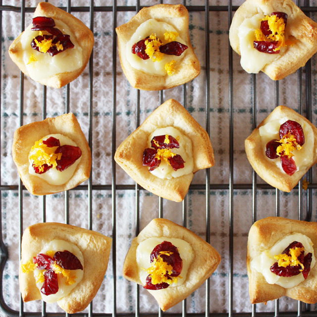 Cranberry Orange Cream Cheese Tartlets