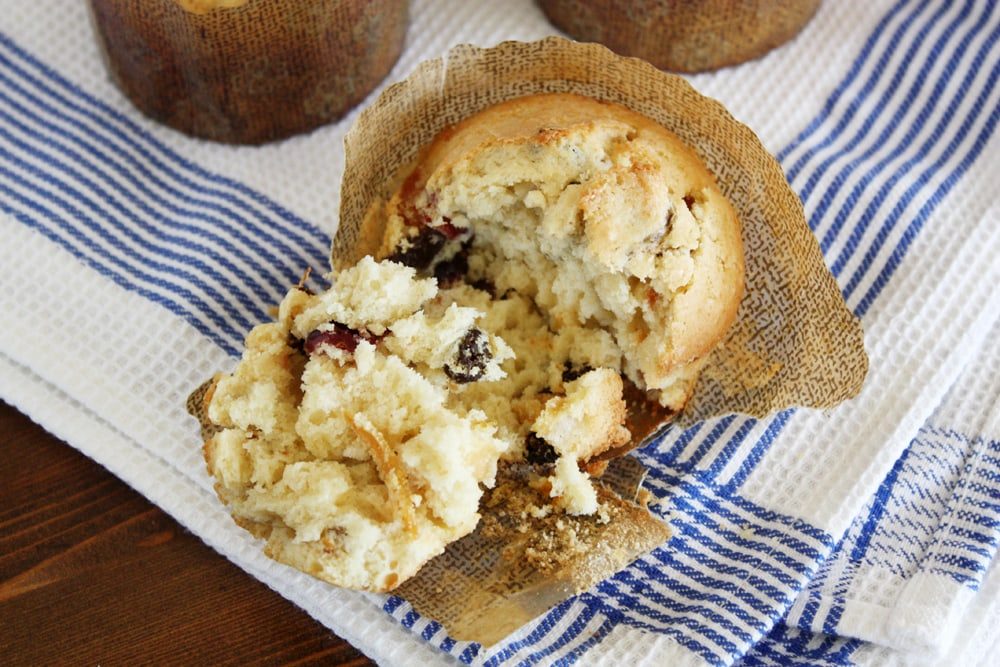 panettone muffin inside