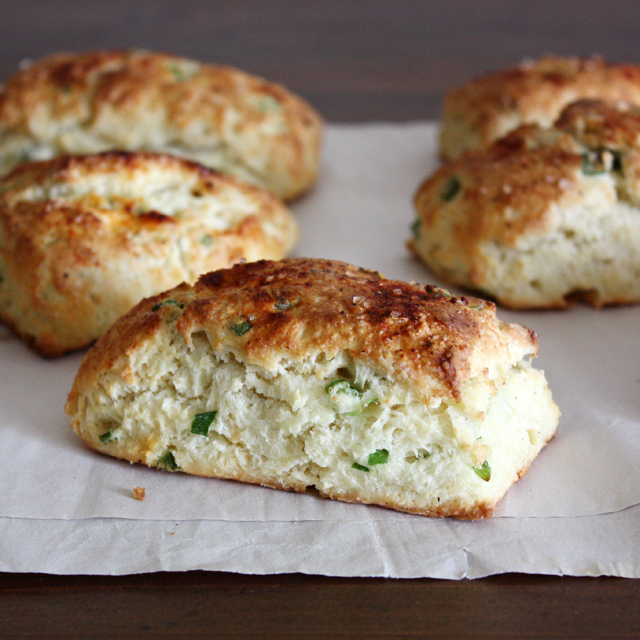 Savory Ricotta and Scallion Scones