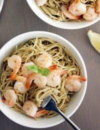 Creamy Avocado Pasta with Shrimp