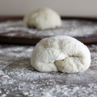 no knead pizza dough on counter