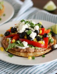 Nine Layer Veggie Tostadas
