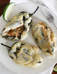 Beer Battered Stuffed Poblanos