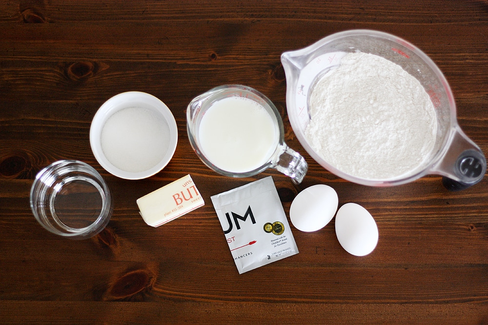 ingredients to make southern sally lunn bread
