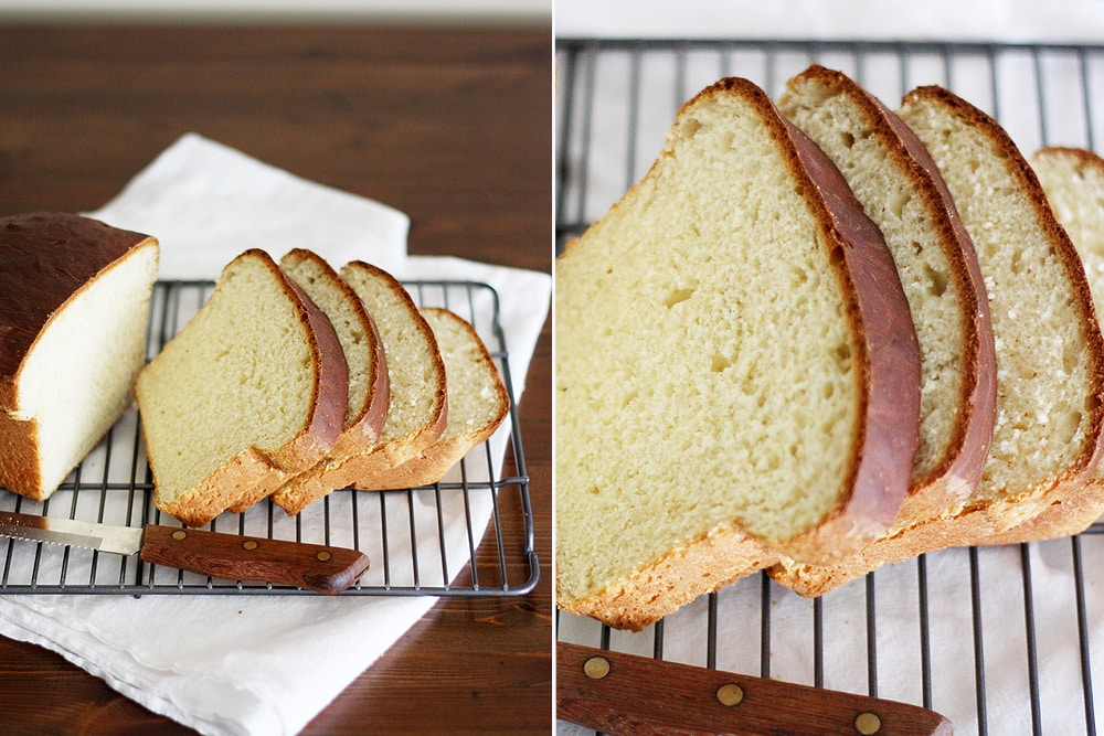 slices of southern sally lunn bread