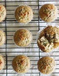 Blue Cheese Buckwheat Cornbread Muffins