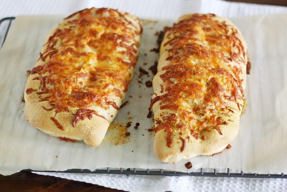 baked stuffed cheesy bread