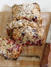 Plum-Blackberry Cream Cheese Bread