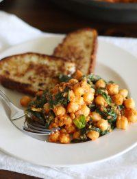Spinach-Chickpea Saute