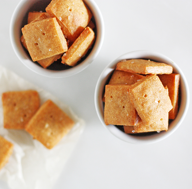 Three-Cheese Crackers