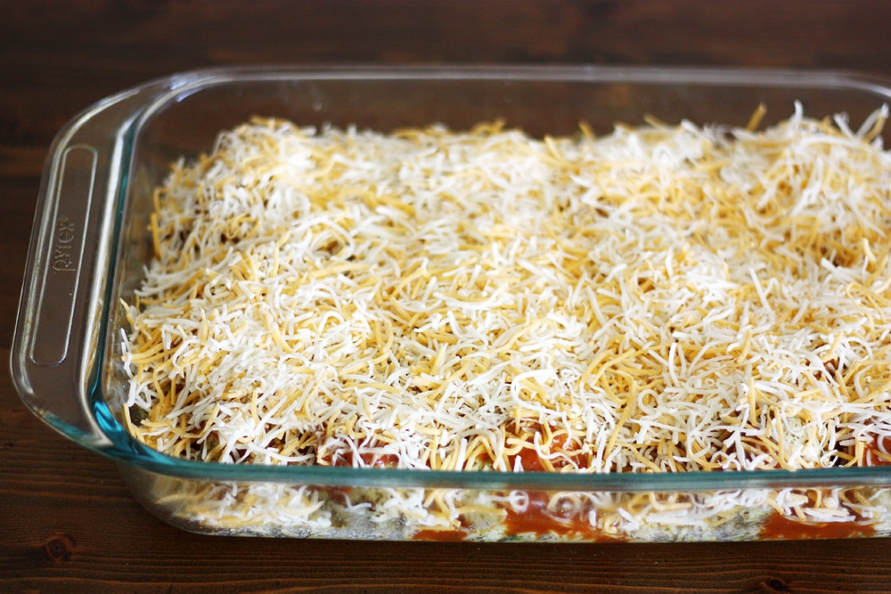 topping cilantro lime chicken bake with cheese