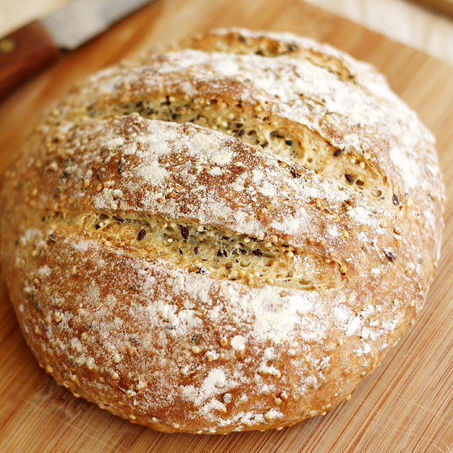 Crusty No-Knead Bread