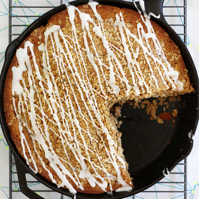Brown Butter Apple Crisp Skillet Muffin Bread