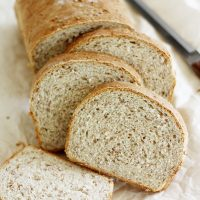 sliced cracked wheat bread loaf