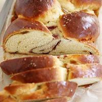 fig raspberry challah bread