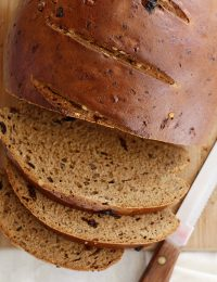 Raisin-Walnut Pumpernickel Bread