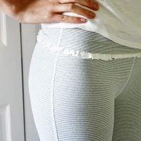 modeling albion fit pants
