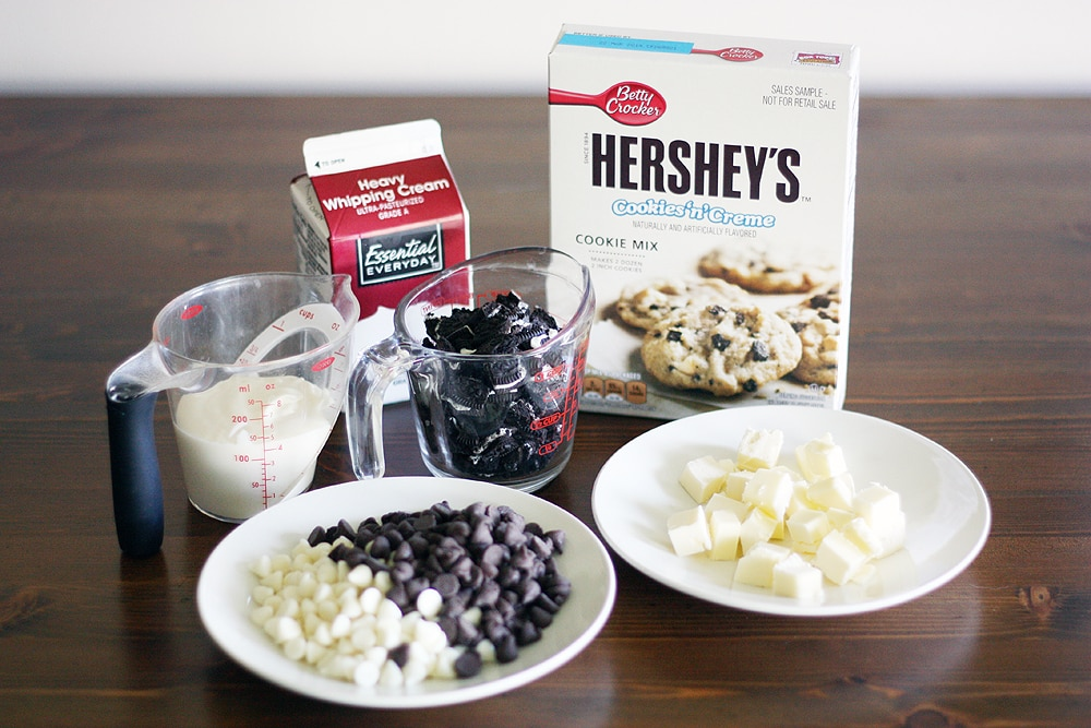 cookies creme dessert pizza ingredients