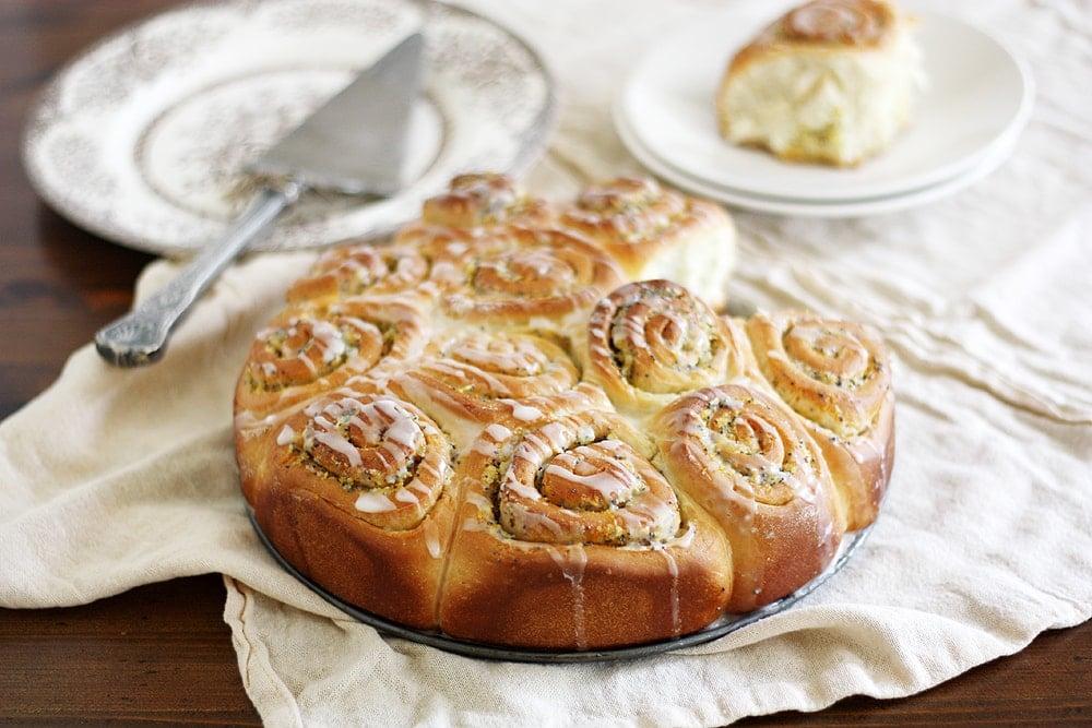 meyer lemon poppy seed sweet rolls
