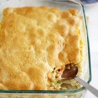 cheesy vegetable bake in baking dish