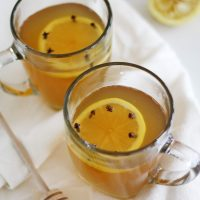 classic hot toddy cocktails on table