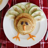 turkey pancake on plate