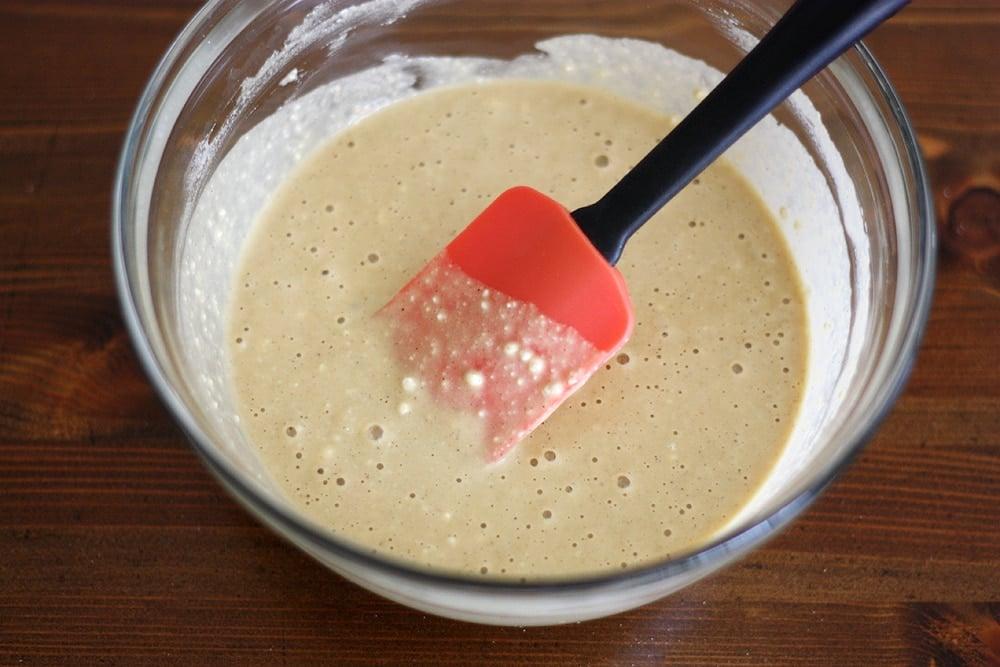 pancake batter in bowl
