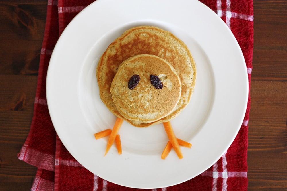 turkey pancake being made on plate